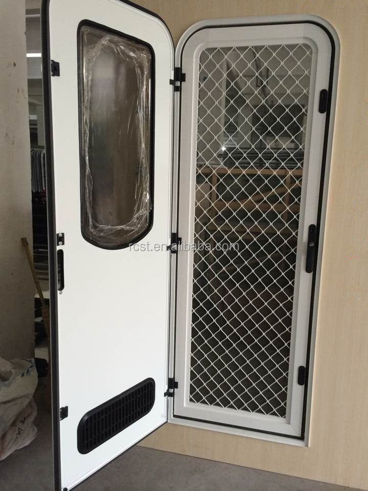 Powder Coated Aluminum Caravan Door Rv Door Motorhome