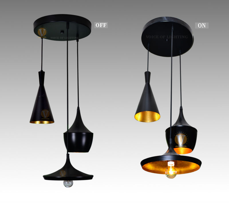 noir suspension lampe chandelier light 3 lampes haut gros large salle diner suspension. Black Bedroom Furniture Sets. Home Design Ideas