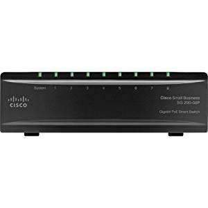 "Cisco Sg200. 08P Gigabit Poe Smart Switch . 8 Port . 4, 4 X 10/100/1000Base. T . , 10/100/1000Base. T . Yes X Slot ""Product Type: Routing/Switching Devices/Switches & Bridges"""