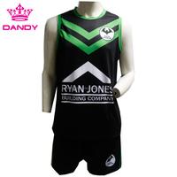 Latest design your own style customized logo Professional sublimated dry fit rugby shirts