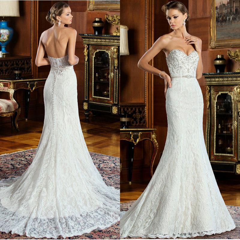 Timeless Wedding Gown: Timeless Lace Wedding Dresses Sweetheart Neck Mermaid