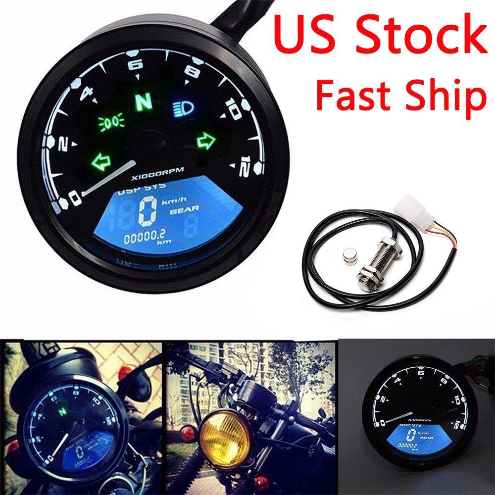 Buy 14000rpm Kmh  Mph Motorcycle Lcd Digital Odometer
