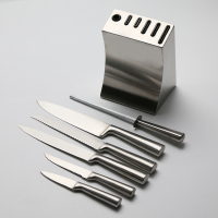 [ HD14054 ] Hot Sale Best Quality Stainless Steel Kitchen Knife 6 Pcs Set With Steady Stand
