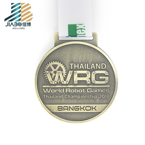 Custom gold silver bronze embossed award big medals For Thailand championship