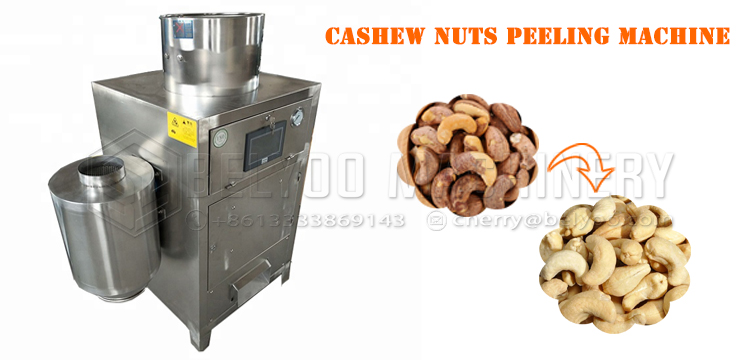 Factory price cashew kernel skin removing automatic cashew peeling machine cashew nut peeler