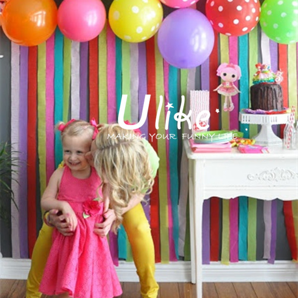 Popular Polka Dot Crepe Paper Goffered Paper For Party Decoration