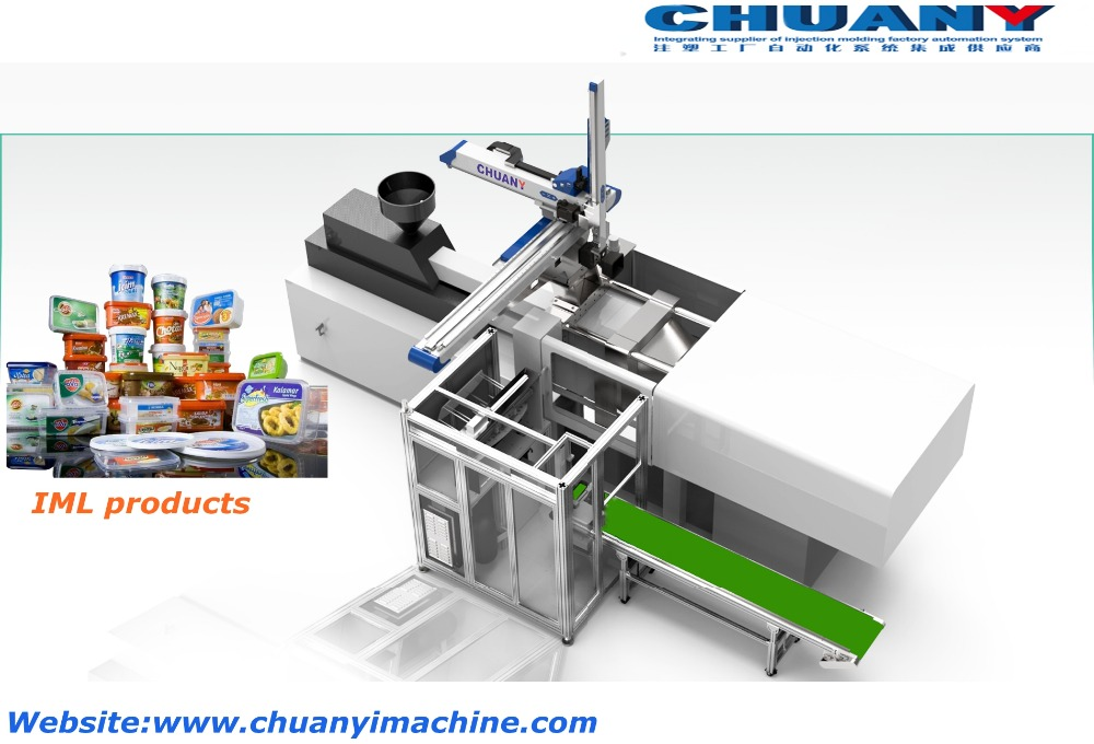 IML Robot Automatic In Mold Labeling System robot arm for Injection molding machine IML system