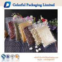 food grade heat resistant transparent food vacuum plastic bags