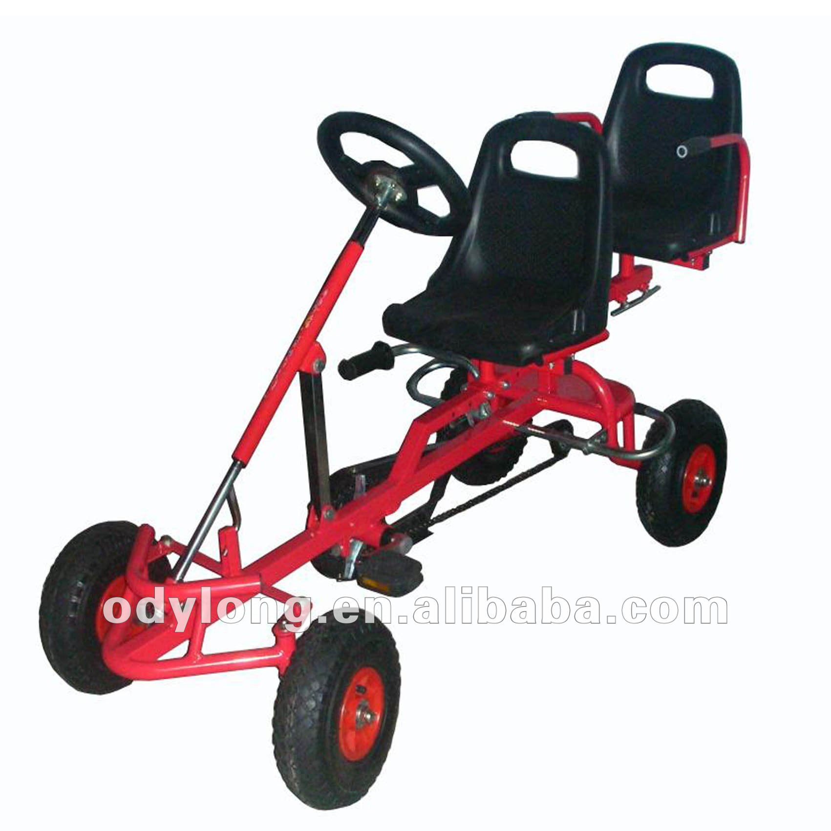 China Metal Pedal Cars For Kids Safety Control With Free Steering