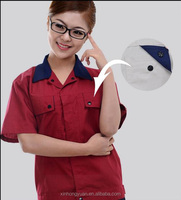 custom antistatic short sleeves workwears uniforms for worker