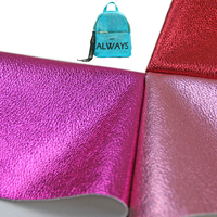 patent holographic pu pvc artificial synthetic metallic glossy pu faux leather material cloth rexine for shoes bag making