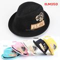 10pcs lot Children Summer Straw Fedora Hat Children Chapeu panama hat Baby sunhat Jazz Cap Hat
