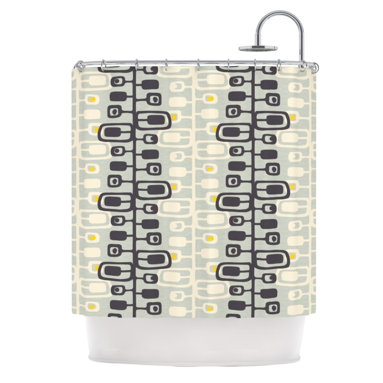 Kess InHouse Gill Eggleston 'Carnaby' Shower Curtain, 69 by 70-Inch