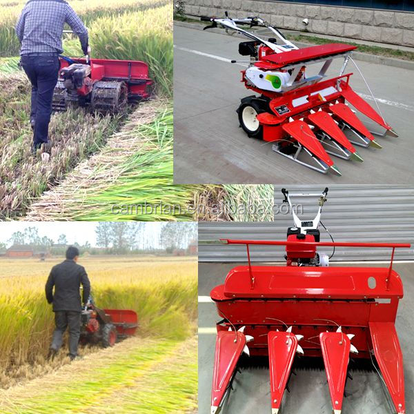 Agricultural 4 Wheels Diesel Bcs Reaper Binder Use Wheat