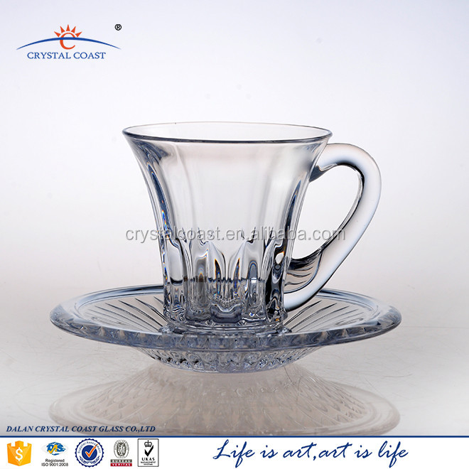 Bulk Cheap Crystal Drinking Gift Set Tea Cup And Saucer