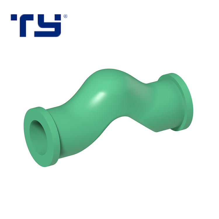 20mm Plastic Pipe Fitting Ppr Bend Bridge Equal Fitting