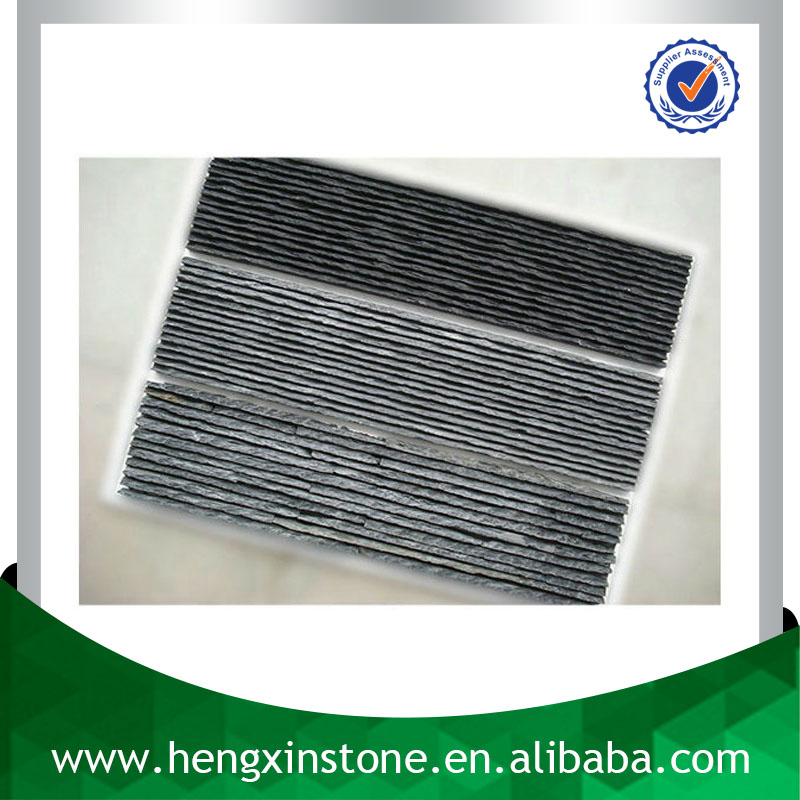 Chinese Factory Direct Sales Cheap Natural 60*15 Waterfall Panel Tile Black Grey Blue Decorative Slate Flow Board
