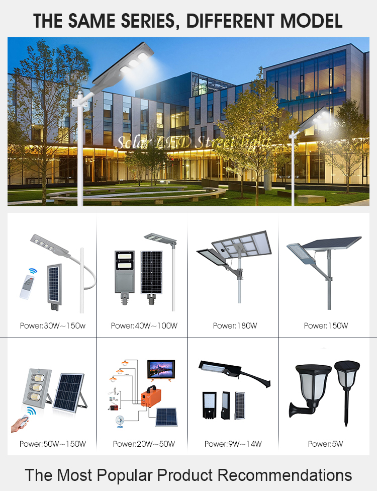 product-ALLTOP -ALLTOP Waterproof ip65 outdoor dusk to dawn 90w 120w 150w 180w led solar street ligh