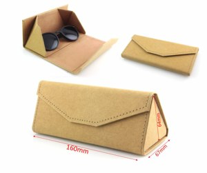 2019 Designer Brand Custom Logo Triangle Sunglasses Paper Box Folding Case Sunglasses Case