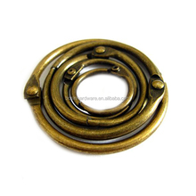 Fashion High Quality Metal Antique Brass Book Binder Ring