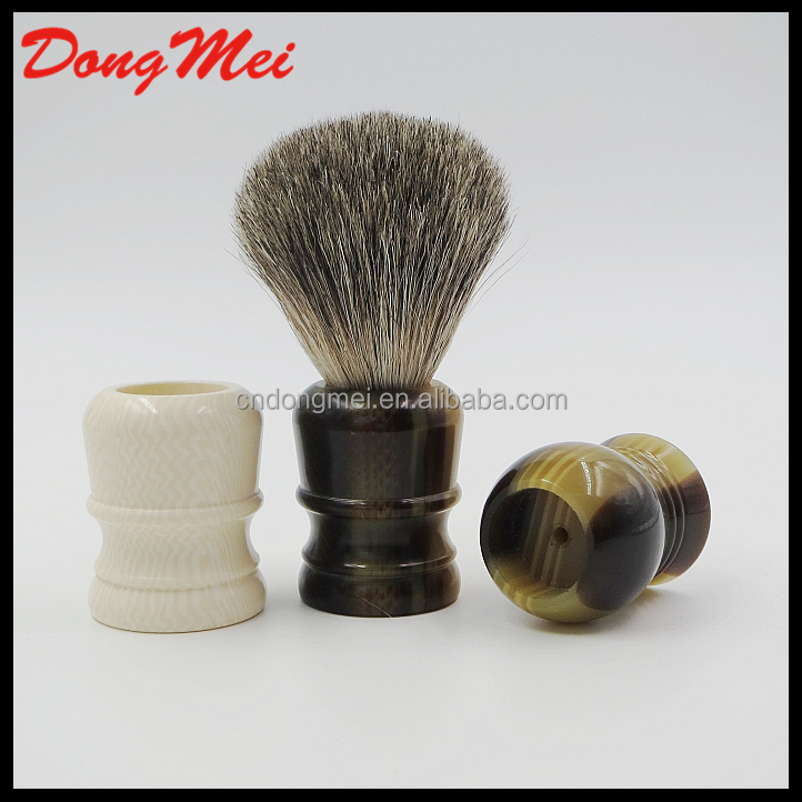 High quality badger hair shaving brush with resin handle,shaving brush handles manufacturer
