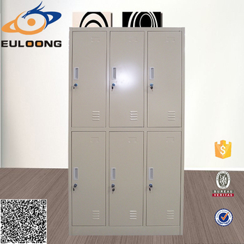 Kids Bedroom Bright Color Steel Locker 6 Door Wardrobe Inside Design