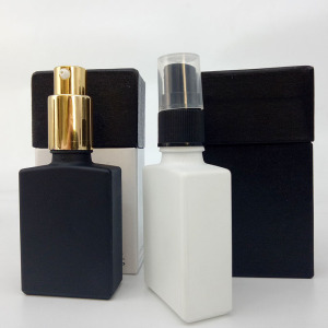 airless pump bottle perfume e juice spray glass bottle 30ml 50ml frosted glass bottle