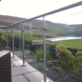 Moderne Glas Inox Zaun Fur Treppen Balkon Buy Glas Inox Zaun Glas