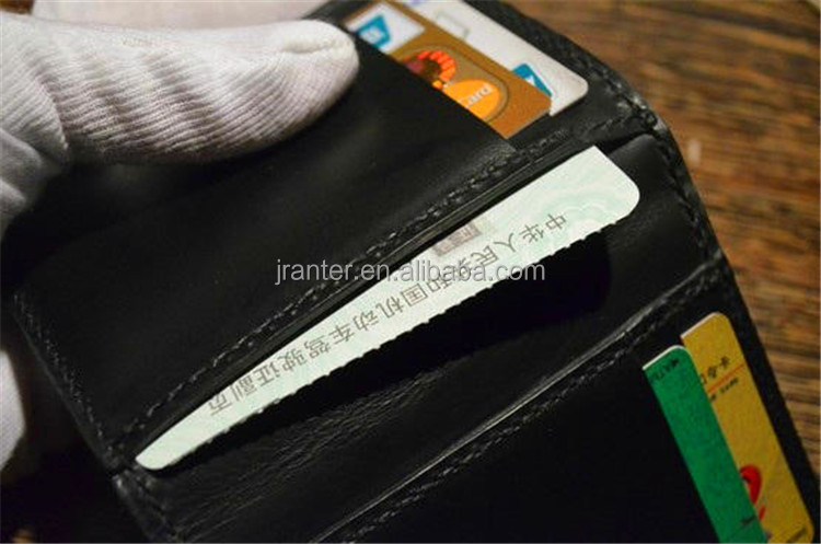 Jranter factory wholesale genuine python leather business card wallet for men