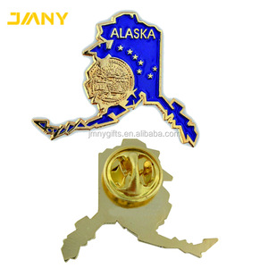 Promotional Custom Alaska State Shaped Lapel Pins