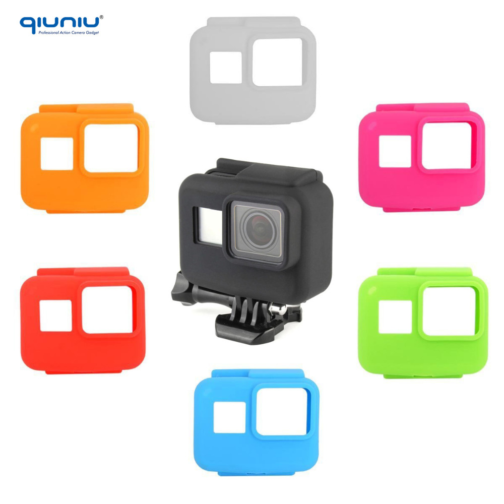 Action camera Border Frame Accessories Soft Silicone Rubber protective Case Cover protectie case cover for Gopro Hero 5