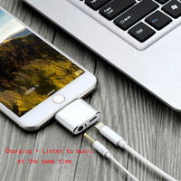New 2 in 1 Charging audio for Converter For iPhone 7 7 Plusto 3.5mm Audio Headphone Jack Adapter Converter