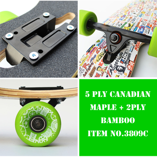Madeira de bordo skates com deck maple canadense