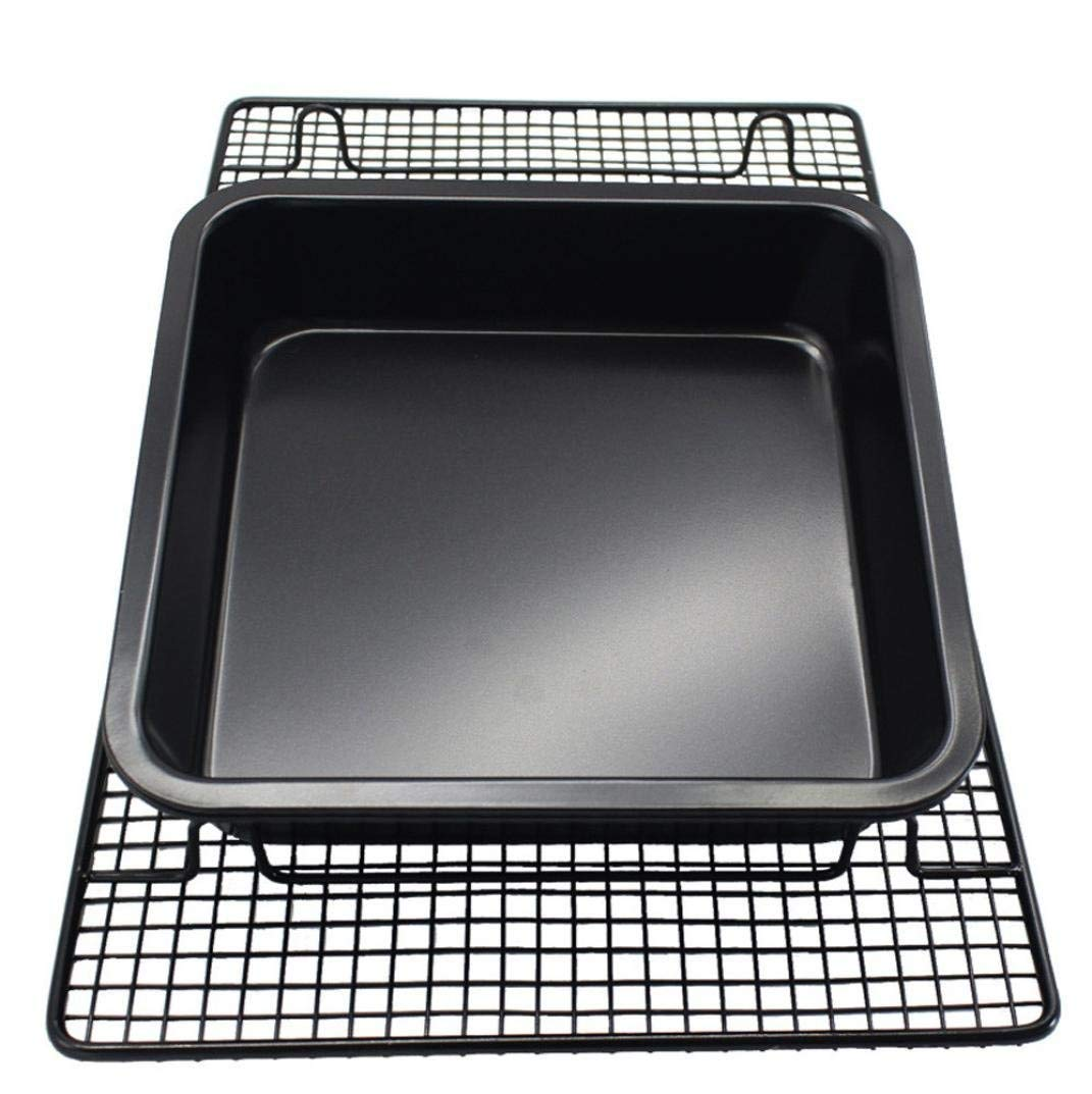 ZTY66® Bakeware Square Cake Pan, Non-Stick Cake Pan Multipack,Made with Steel Core with Non-Stick coating,8 -inch,