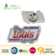 Free sample cheap custom metal stainless steel company logo printing epoxy alphabet letter badges imvu