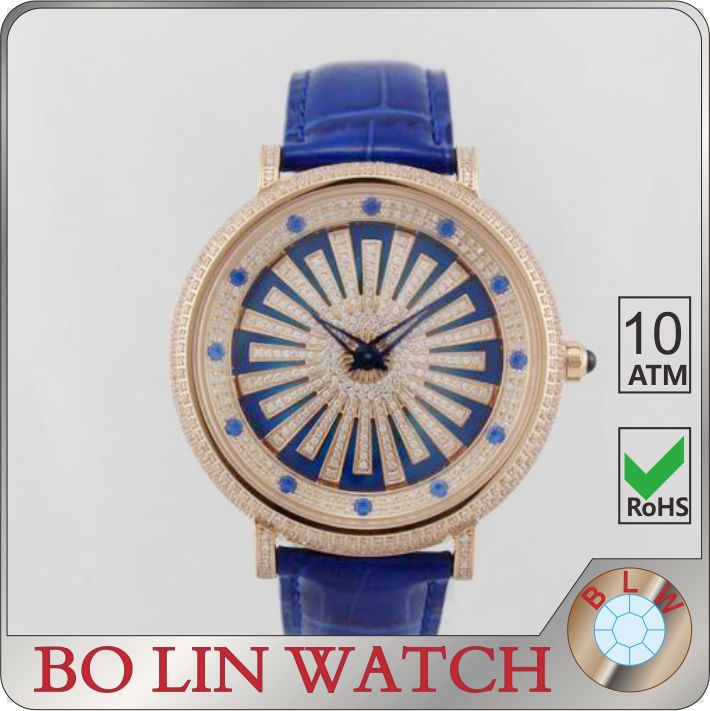 ladies watch, diamond watch, stone watch leather strap