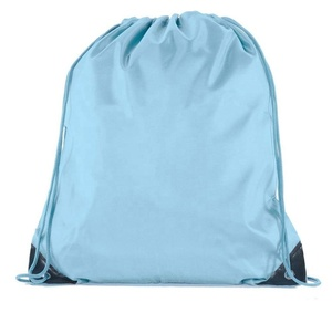 promotional cheap custom children polyester large backpack waterproof string bag customized eco friendly