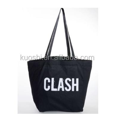 Black Canvas Custom Logo Bulk Tote Bag Bags Organic Product On Alibaba