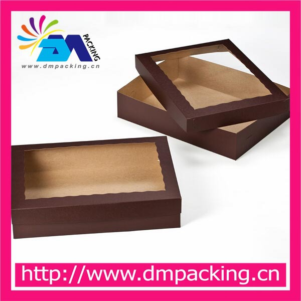 half sheet cake box paper packaging box with window