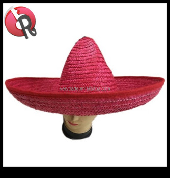 Sombrero Wide Brim Big Red Mexican Hat c15777ba8fb