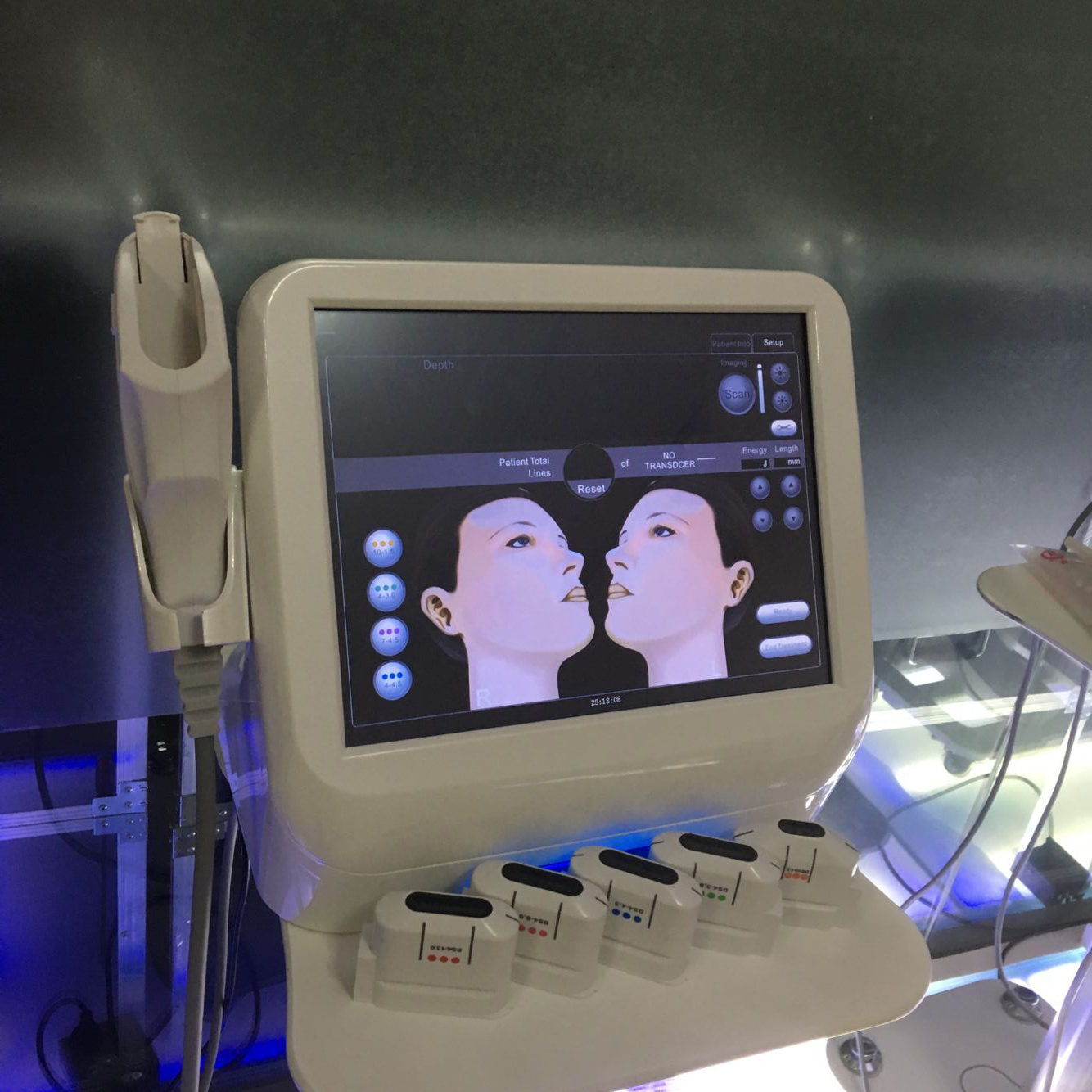 Details about High Intensity Focused Ultrasound HIFU Machine Face Body  Lifting Skin Tightening