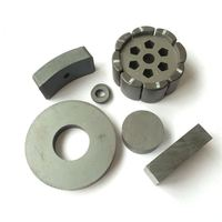 New round design sintered disc ferrite magnet china suppliers Various Shapes for motors on sale in Hengdian