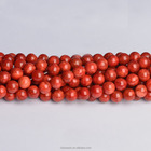 Wholesale gemstone loose beads CB39790 Red Sponge Coral Round Beads