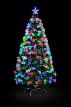 7ft 210cm Led Lighting Optical Fiber Outdoor Christmas Tree 5 Star