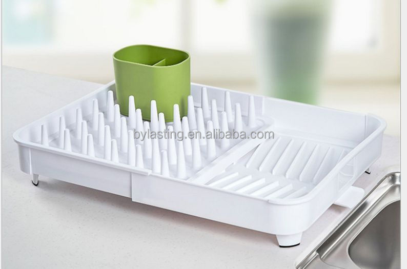 New Design Self Draining Kitchen Storage Collapsible Dish Rack