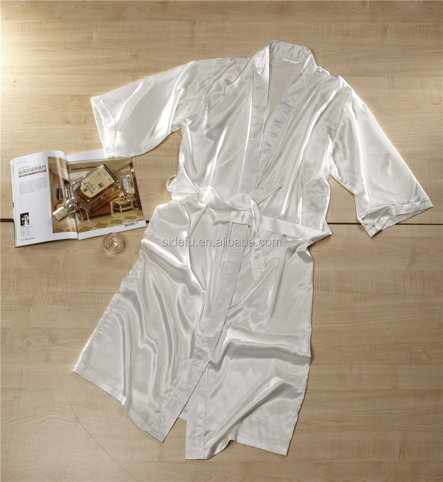 Cheap High Quality Hotel Spa Kimono Silk Satin Dressing Gown For ...