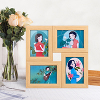 Wall hanging 4 photos stitching picture photo collage frame