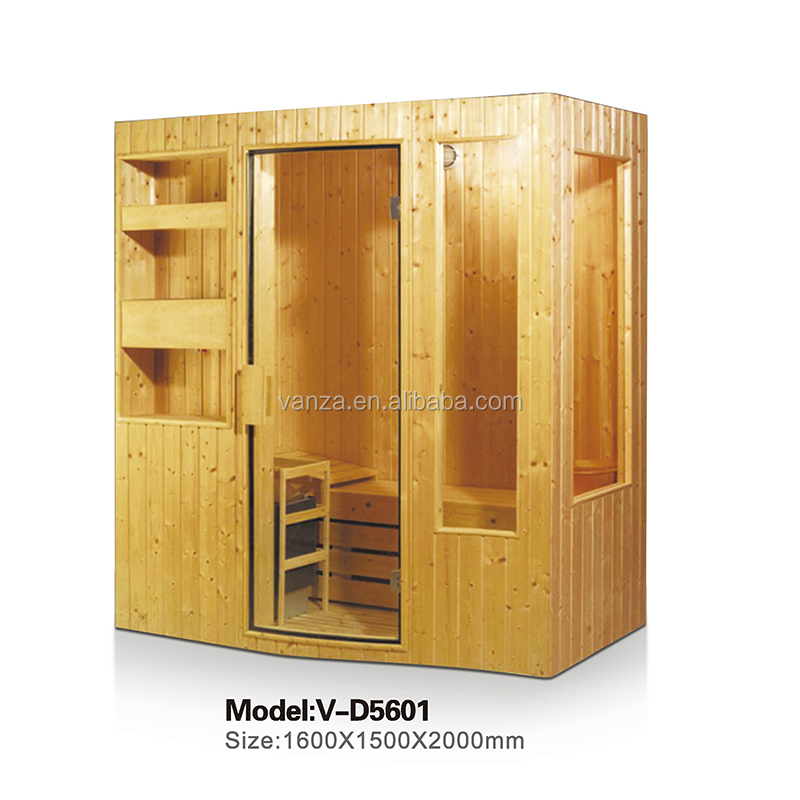 2-4 person Wooden Home Sauna and Dry Steam Sauna Room