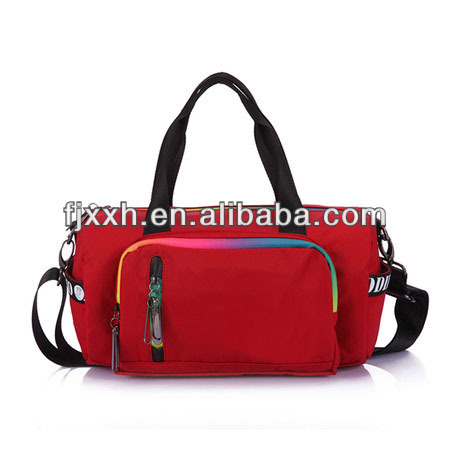 good qualty 600D outdoor fashionable young polo red sport bag travel bag