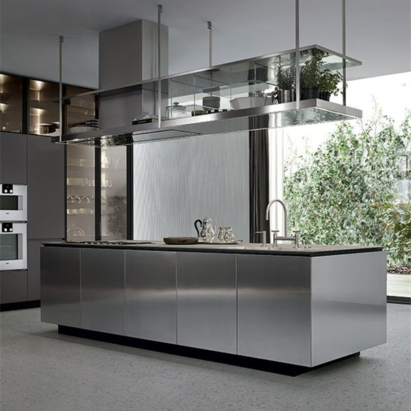 2019 Vermont New Industrial Design Metal Kitchen <strong>Cabinets</strong> With Kitchen Sink And Faucet